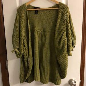 Short Sleeve Shawl Cardigan Sweater